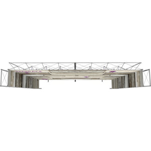 21 x 15 Ft. (4 x 3 Quad) Embrace Stackable Double Sided Trade Show Display Without End Caps - Top View