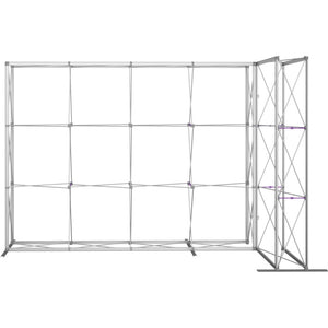11 Ft. Embrace L-shape Full Height Double Right Sided Front Graphic Trade Show Display With End Caps - Frame Only