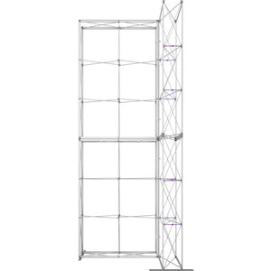 7 x 15 Ft. (2 x 3 Quad) Embrace Stackable Double Sided Trade Show Display With End Caps - Frame View