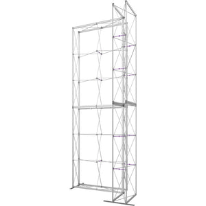 7 x 15 Ft. (2 x 3 Quad) Embrace Stackable Double Sided Trade Show Display With End Caps - Frame Right View