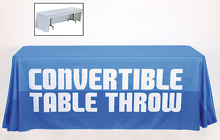 Convertible Open Back Table Throw