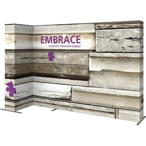 11 Ft. Embrace L-shape Full Height Double Left Sided Front Graphic Trade Show Display With End Caps - Left View 2