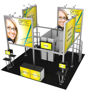 20' x 20' Hybrid Pro Modular Island Exhibit Kit 19 - Product View 3