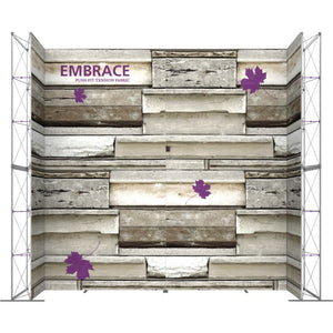 17 x 15 Ft. (3 x 3 Quad) Embrace Stackable Single Sided Trade Show Display Without End Caps