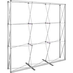 7 1-2 Ft. (3 x 3 Quad) Embrace Full Height Trade Show Display Without End Caps - Frame Only