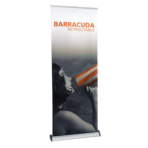 Barracuda Banner Stand - Up Close