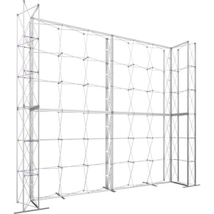 17 x 15 Ft. (3 x 3 Quad) Embrace Stackable Single Sided Trade Show Display With End Caps  - Frame Left View