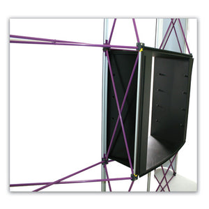 8 Ft. 3 x 3 Coyote Pop Up Display With Full Graphics - Curved - Product Accessory Assembly - Step 3