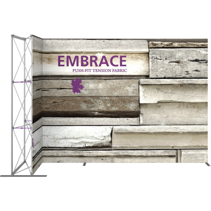 11 Ft. Embrace L-shape Full Height Single Left Sided Front Graphic Trade Show Display Without End Caps