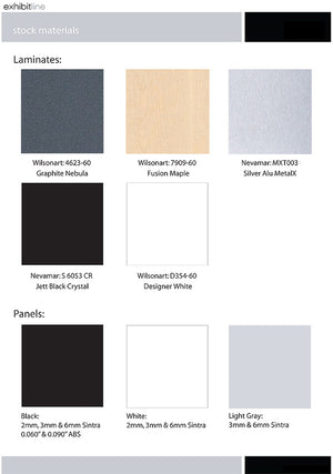 EXB.1020.2 Exhibitline 10' x 20' Trade Show Display - Color Swatch