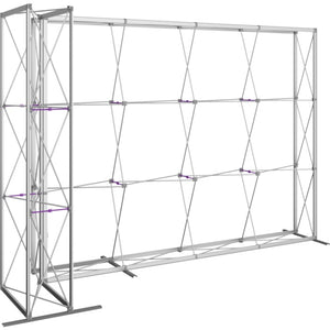 11 Ft. Embrace L-shape Full Height Single Sided Front Graphic Trade Show Display Without End Caps - Frame Right Side