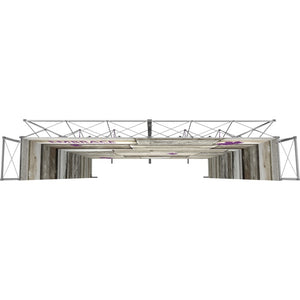 17 x 15 Ft. (3 x 3 Quad) Embrace Stackable Double Sided Trade Show Display Without End Caps - Top View