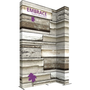 10 x 15 Ft. (3 x 3 Quad) Embrace Stackable Double Sided Trade Show Display With End Caps - Left View