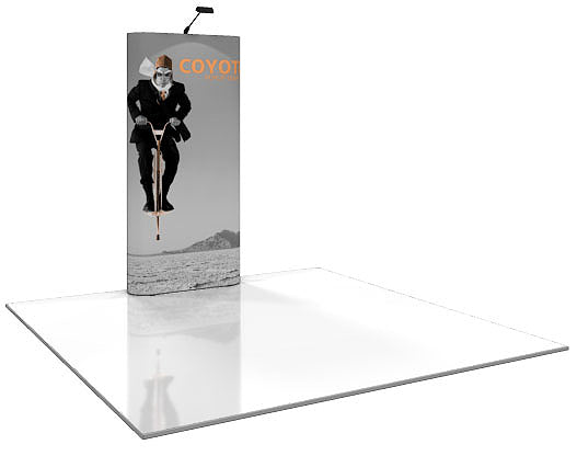 4 Ft. (1 x 3 Quad) Coyote Pop Up Display With Full Graphics - Straight - Replacement Graphics