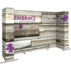14 Ft. Embrace U-shape Full Height Single Sided Front Graphic Trade Show Display With End Caps - Left Side