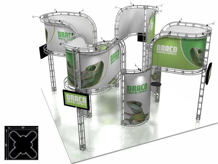 Draco Orbital Express 20' x 20' Truss Trade Show Display Booth