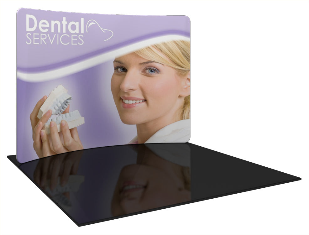 Formulate Essential Horizontal Curved 10' x 10' Trade Show Display