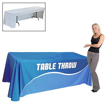 6 Foot Open Back Fully Printed Table Throw