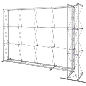 11 Ft. Embrace L-shape Full Height Single Right Sided Front Graphic Trade Show Display With End Caps - Frame Right View