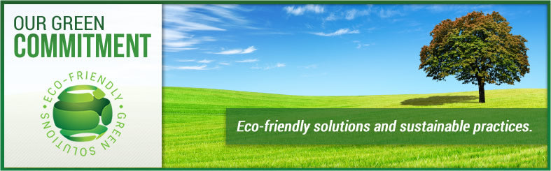 Our green commitment - we work towards sustainability and environmental stewardship