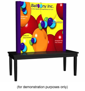 Deluxe 10ft Coyote Pop Up Trade Show Display Kit - Fabric End Caps