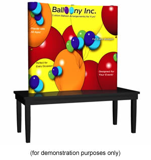 Deluxe 10ft Coyote Pop Up Trade Show Display Kit - Graphic End Caps
