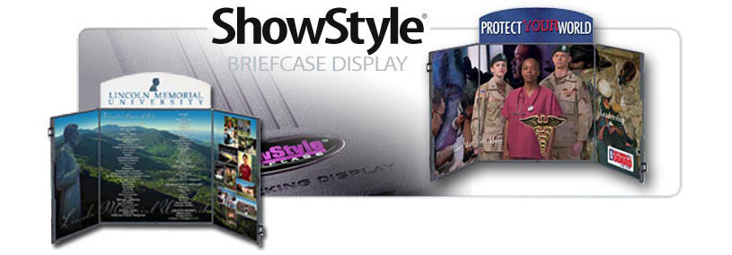Showstyle Briefcase Table Top Display Graphics