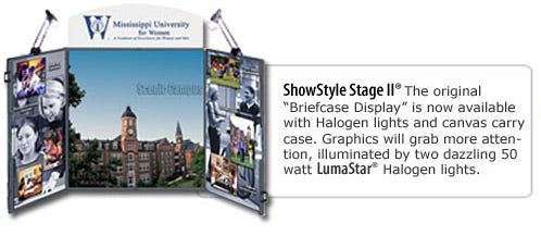 Showstyle Briefcase Table Top Display Graphic-Showstyle II