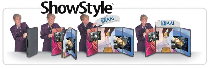 Showstyle Briefcase Table Top Display Setup