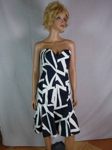 Lawrence c. 1985 black and white cocktail dress and jacket.