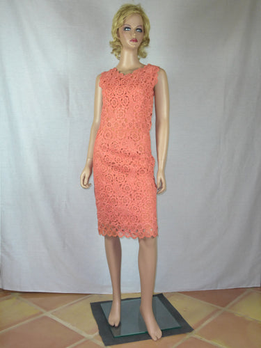 Cepicella Creations 1960s flamingo pink cocktail dress.