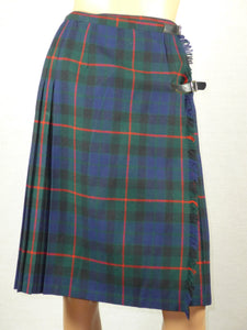 Scottish 1960s tartan (clan not identified) wool wrap skirt.