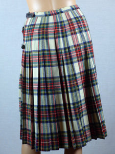 Scottish 1960s Steward Dress Tartan wool wrap skirt.