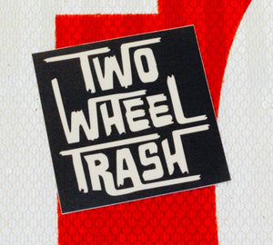 Two Wheel Trash Square Sticker