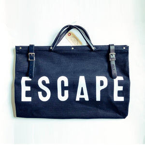 ESCAPE Canvas Utility Bag - Black