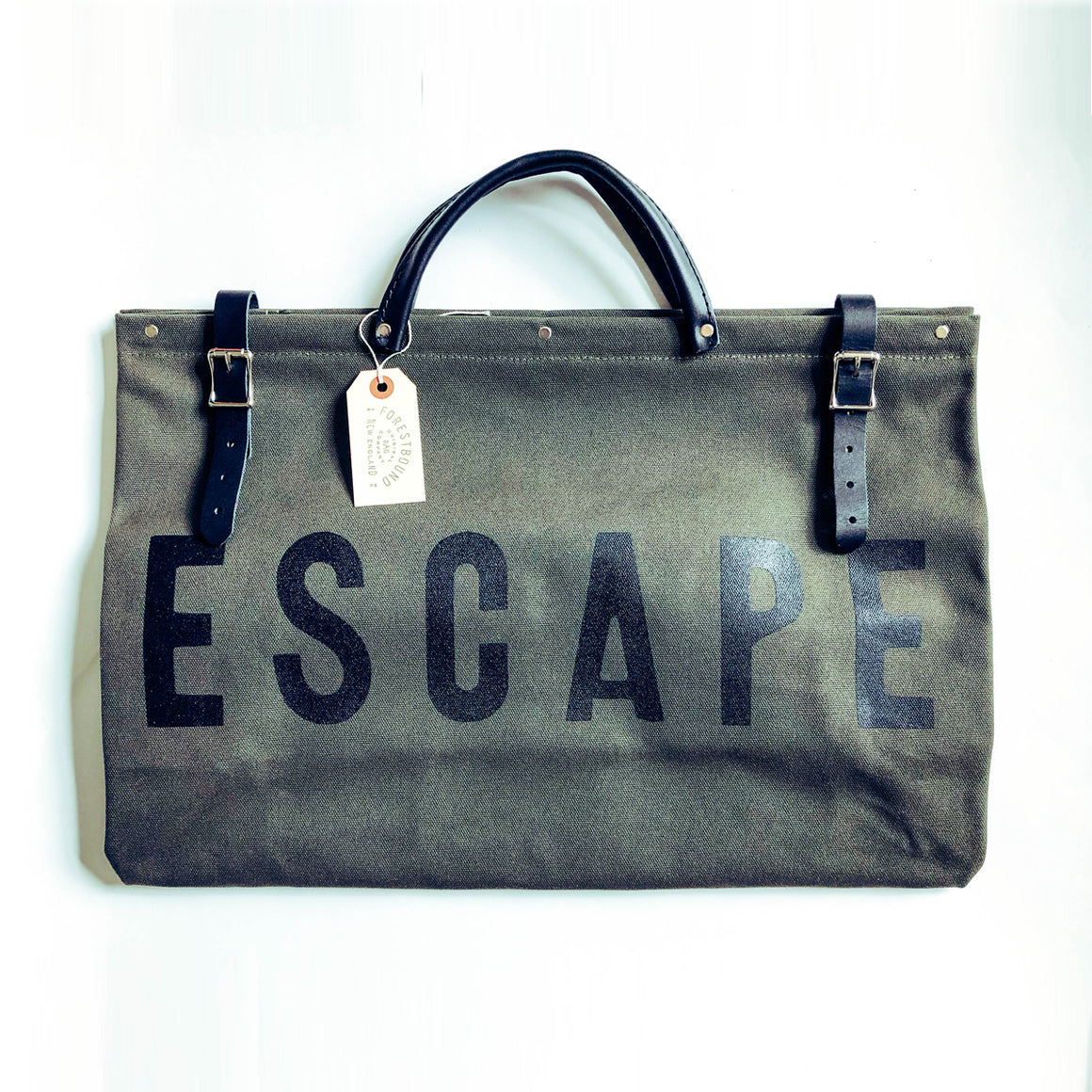 ESCAPE Canvas Utility Bag - Olive