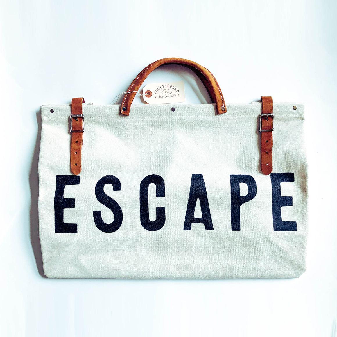 ESCAPE Canvas Utility Bag - White