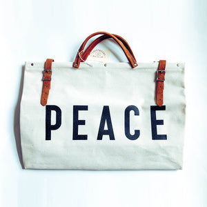 PEACE Canvas Utility Bag