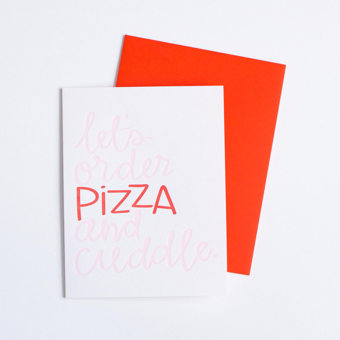 Pizza & Cuddle Card