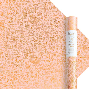 Moroccan Peach Gift Wrap - Roll