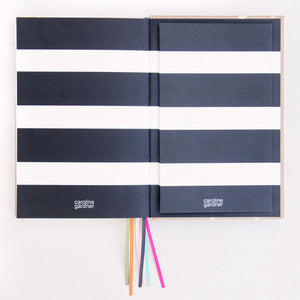 Kraft Gold Hearts Multi Ribbon Notebook