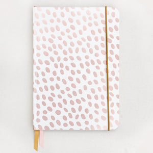 Rose Gold Metallic Dotty A5 Notebook