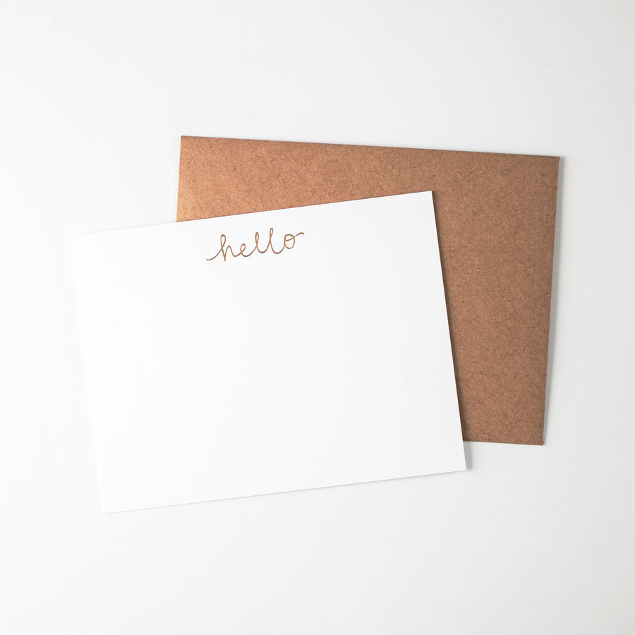 Hello Flat Card Set of 6