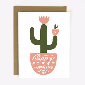 First Mother's Day Cactus Card