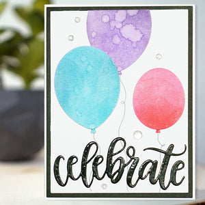 Trio of Balloons Card