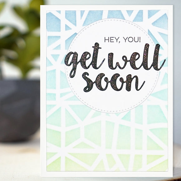Abstract Get Well Card