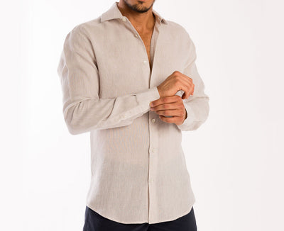 <b>Linen Shirt</b><br> Light Beige - QVINTO