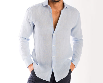 <b>Linen Shirt</b><br> Light Blue - QVINTO