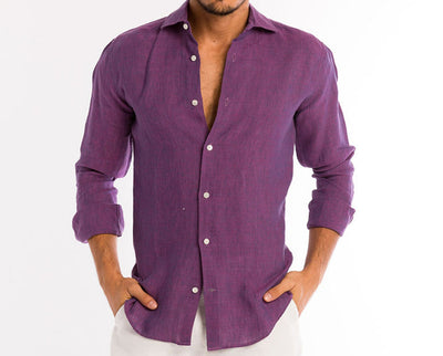 <b>Linen Shirt</b><br> Imperial Purple - QVINTO