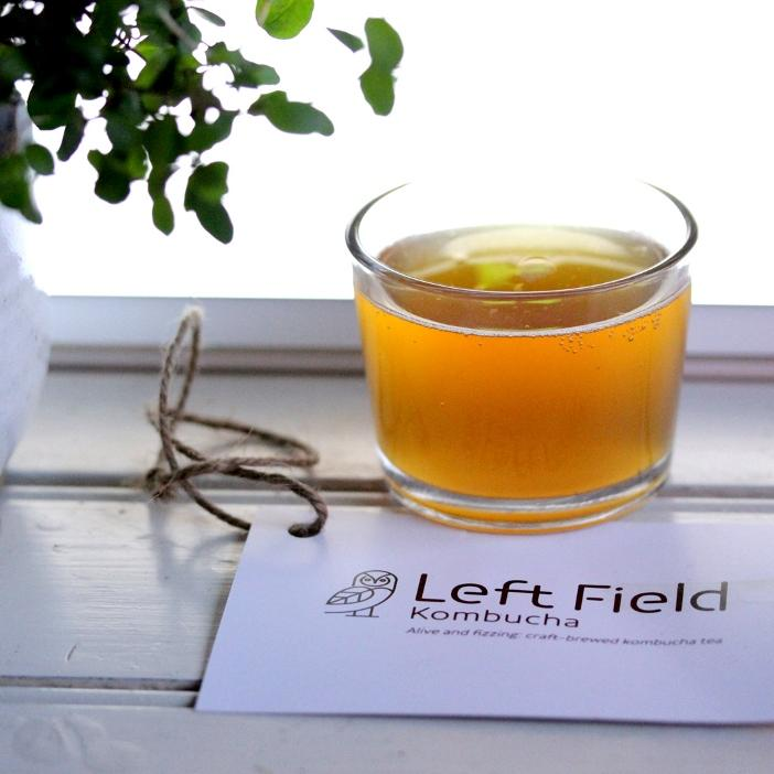 Dry January: Glass of Left Field Kombucha